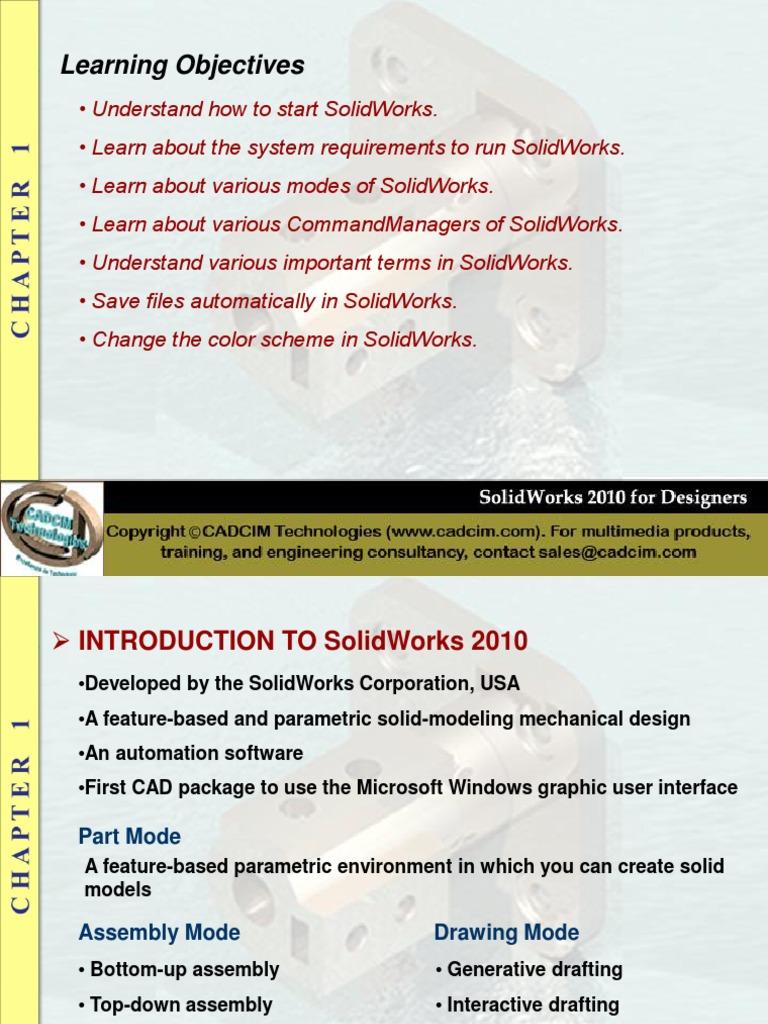 Solid Works 2010 Microsoft Windows Menu Computing Free 30 Day Trial Scribd