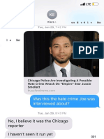 Text Messages From Cook County State's Attorney In Jussie Smollett Case