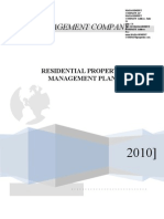 Property Management Residential Managment Plan 2010
