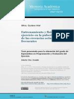 Entrenamiento y Fisiología Del Ejercicio en La Pubertad. Análisis de Las Creencias Actuales Mas Frecuentes