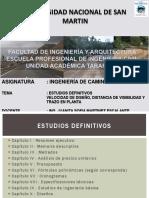 III Caminos Velocid Diseño. Trazado en Planta