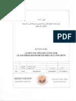 SECTION 03490 Glass Fiber Reinforced Precast Concrete Rev 1