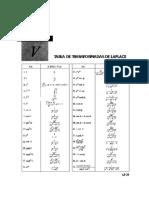 Tabla Laplace 1. Ec. Diferenciales