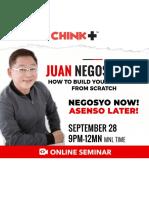 Juan Negosyante Blank Worksheets by Chinkee Tan
