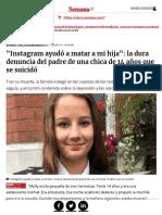 Suicidio Instagram Chica 14 Años Artículo Upload