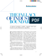 The Falacy of Industrial Boundaries for Developing Nations