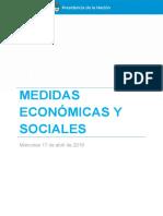 Medidas Económicas y Sociales