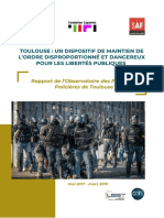 Rapport de l'Observatoire des pratiques policières (OPP) Toulouse