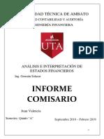 Informe Comisario Individual