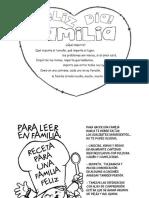 Tarjeta Dia de La Familia