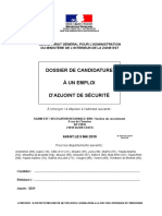 Dossier de candidature à la police pour devenir Adjoint de sécurité (ADS)