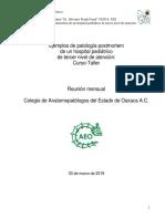 Resumenes clínicos patología postmortem Oaxaca 30 de marzo 2019