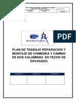 Plan de Trabajo Desmontaje de Chimenea y Cobertura