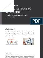 common characteristics of a entrepreneur