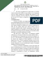 """Causa 26870/2018/CA1 ¨De Vido, Julio Miguel c/ EN – Honorable Cámara de Diputados de la Nación s/ amparo ley 16.986"""""""