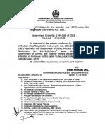 JK Government Employee Holidays List 2019