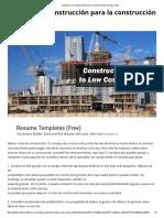 Consejos de Construcción Para La Construcción de Bajo Costo