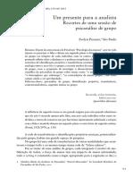 Pryzant, Um Presente Para a Analista Recortes de Uma Sessão de Psicanálise de Grupo
