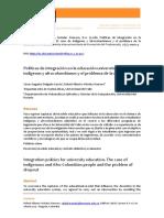 Delgado & Mendez, Políticas de Integración en Doc Universitaria