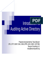 2015-03 Lunch - Intro to Auditing Active Directory