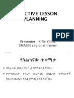 Final Planning for Teachers