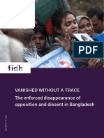 FIDH Report - VANISHED WITHOUT A TRACE