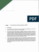 Documento de los servicios jurídicos del Parlamento Europeo sobre la inmunidad de Carles Puigdemont.
