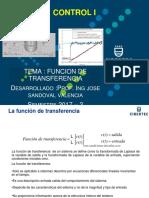 Función de Transferencia y Diagrama de Bloques