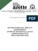 Environmental Impact Assessment Administrative Procedures 2012