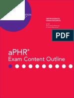 Aphr Exam Guide