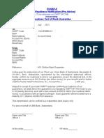 Exhibit A generic - Bank Readiness Notification (UBS to La Caixa) 7-3-13 .doc