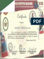 2016mayo Certificado de Metrado, Costos y