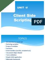 Unit- 5 - Client Side Scripting