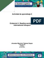 Reading Workshop International Transport V2