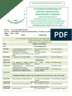 Programa del seminario internacional de geriatría y gerontología