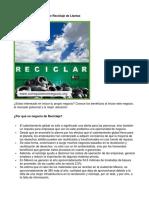 Como Poner Un Negocio de Reciclaje de Llantas - Guía de Negocio