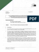 Informe del Europarlamento