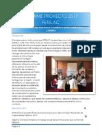Informe FETELAC 2017