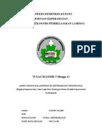 Tugas Mandiri 5_minggu 12___Etika Keperawatan____Regulasi Keperawatan, Issue Legal Dan Tantangan Dlm Praktik Kep Profesional