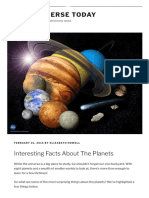 Interesting Facts About the Planets - Universe Today