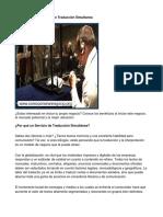 Como Poner Un Servicio de Traducción Simultanea - Guía de Negocio