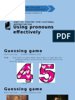 Using Pronouns Effectively