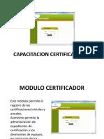 Capacitacion certificadoras