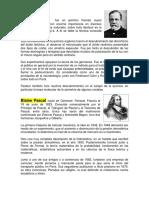 Biografia de Luois Pasteur, Blaise Pascal, Guillermo Marconi, Albert Einstein, Isaac Newton