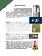 La Familia de Los Instrumentos, Cuerda, Cuerda Frotada, De Percusion, Electricos, De Viento, Autoctonos
