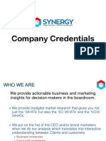 Synergy Credentials, April 2019