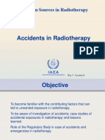 Lecture 6 - Accidents in Radiotherapy
