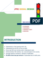 Traffic Signal Design at Junction