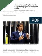 ex-deputado pagará multa de R$ 2 milhões