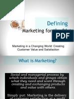 MSP 01 Defining Marketing